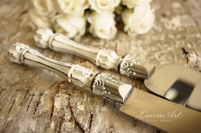 Rustic Wedding Cake Server Set & Knife Cake Cutting by ...
