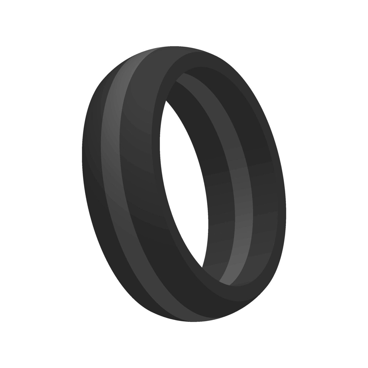 ModernFashionCo rubber mens wedding band Mens Black w Gray Line Silicone Wedding Engagement Ring Band Flexible Hypoallergenic Modern Sports Athletic Mans Jewelry FAST FREE SHIPPING