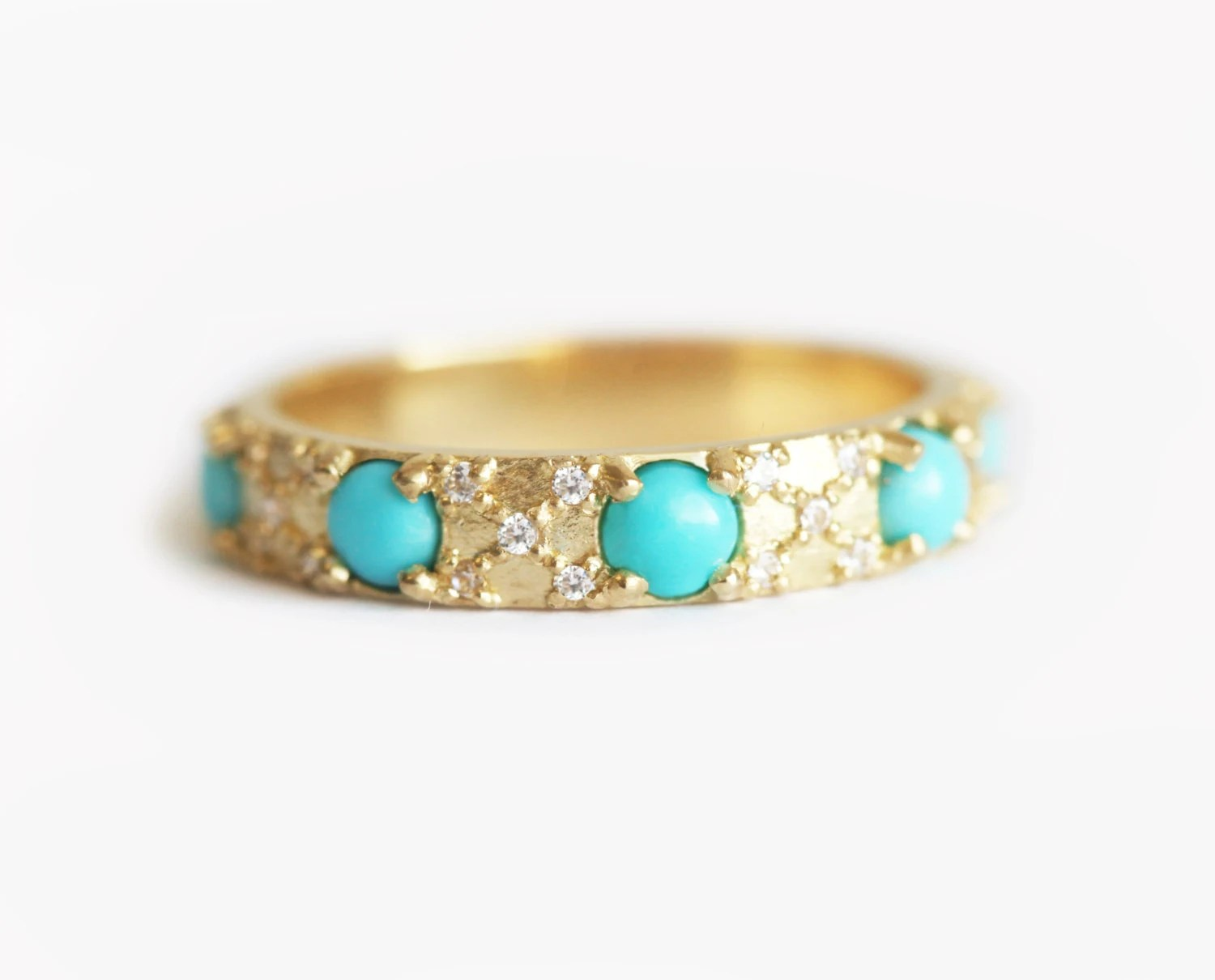 diamonds and turquoise wedding ring turquoise wedding ring Turquoise Diamond Ring Turquoise zoom