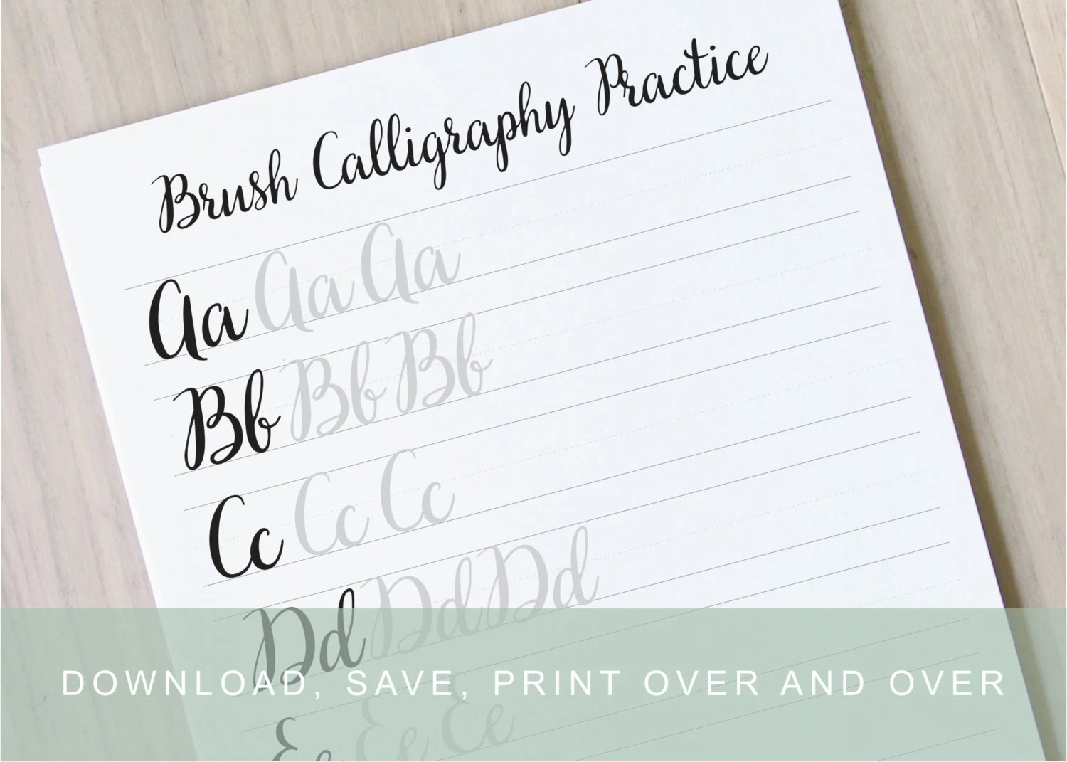 Fullsize Of Modern Calligraphy Practice Sheets