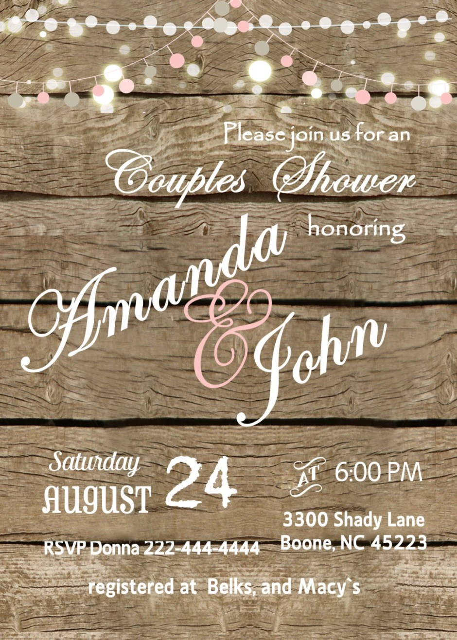 Bridal custom  invitation...