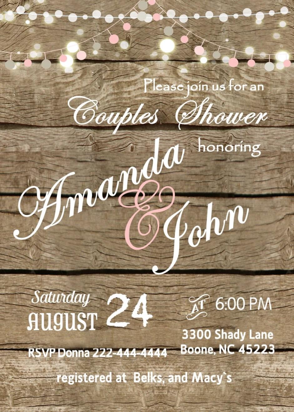 Bridal custom  invitation...
