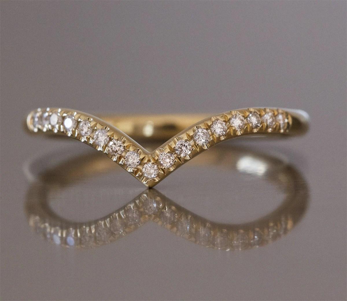 curved wedding band contour diamond wedding band curved wedding band diamond v ring curved wedding ring chevron diamond ring elegant wedding ring thin diamond ring curved ring