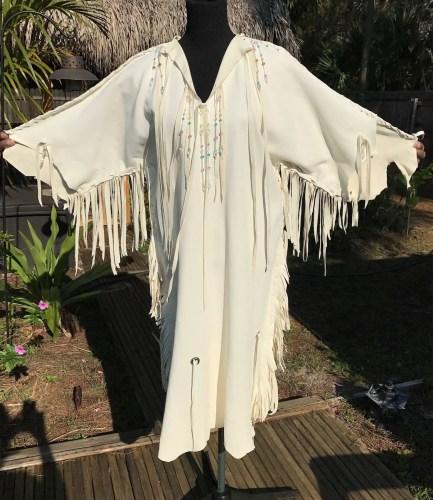 deerskin leather wedding dress native native american wedding dress Deerskin Leather Wedding Dress Native American Style Handmade Beaded White Buckskin Wedding Gown Pow Wow Regalia