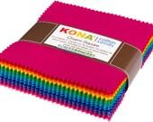 CHARM SQUARES - Kona® Cotton - Bright 101