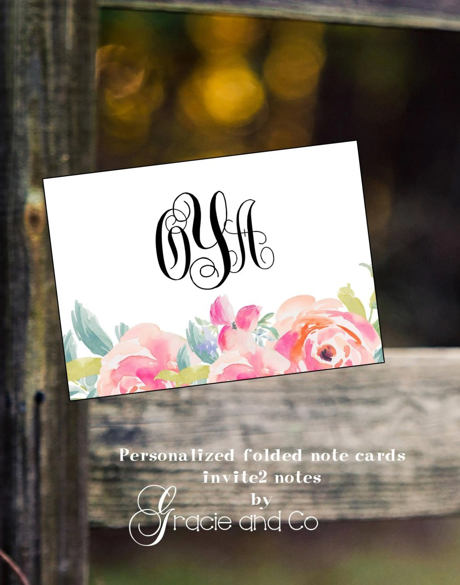 Personalized note cards w...