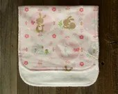 Pink Bunny Burp Cloth...