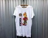 Bootleg Bart -- White t-s...