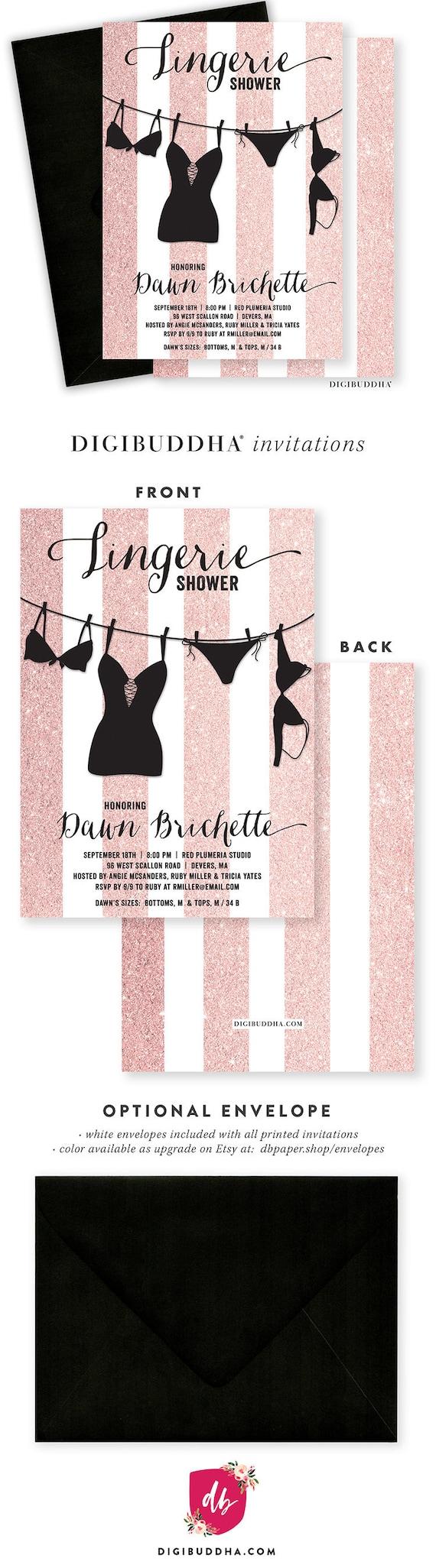 Fullsize Of Lingerie Shower Invitations