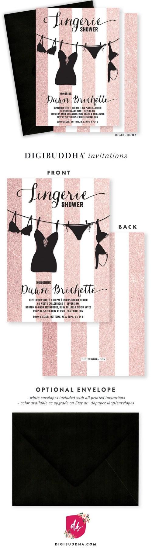 Unusual Lingerie Shower Invitation Lingerie Shower Invite Blush Shower Lingerie Shower Invitation Template
