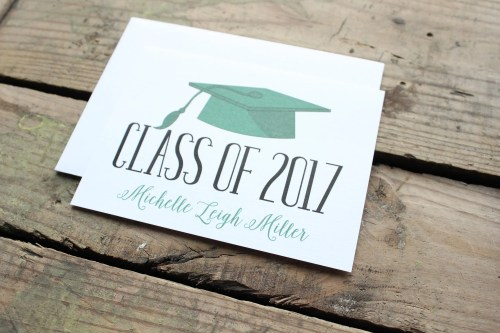Medium Of Graduation Thank You Cards