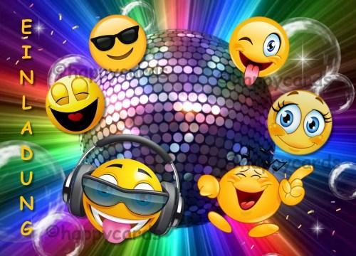Medium Of Emoji Birthday Invitations