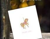 Carousel horse thank you ...