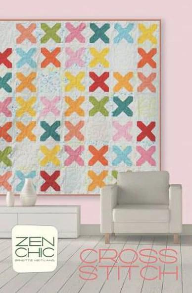 Cross Stitch Quilt Pattern by Zen Chic