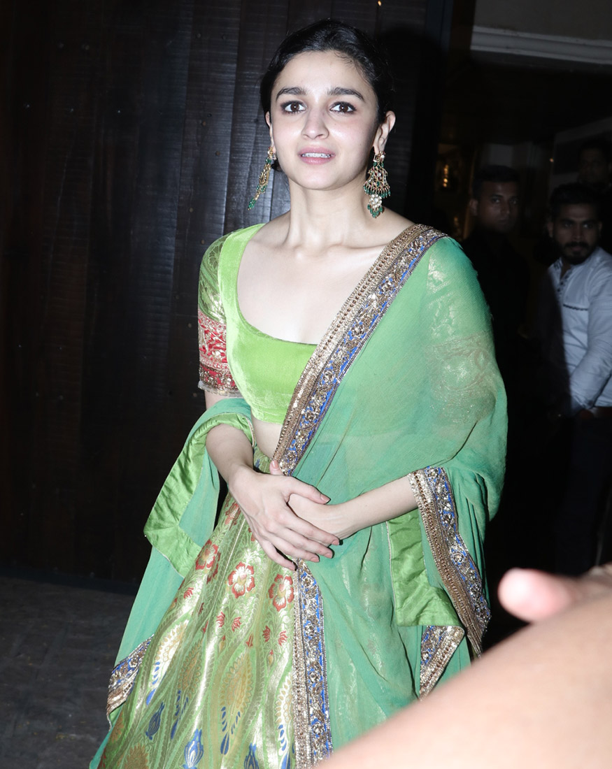 Alia Bhatt during Anil Kapoor's star-studded Diwali party held at his residence in Mumbai on October 19, 2017. (Image: Yogen Shah)