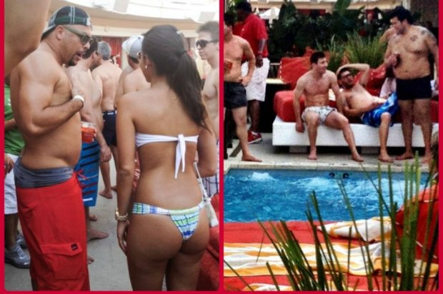 Ronaldo conversando con una ad 54376595255 54115221152 960 640 Holiday Snaps: Messi hangs out with Ronaldo & bikini clad girls at a pool party in Las Vegas