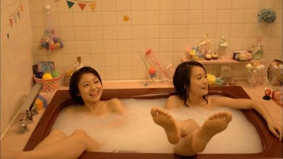 【入浴キャプ画像】際どいシーン満載の温泉レポ!いつポロリしてもおかしくないぞww 24