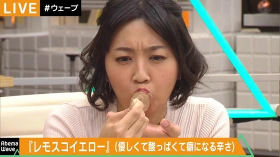 【擬似フェラ画像】エロい顔してカメラの前で食レポしてるタレント達に思わず股間が反応www 08