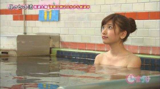 【温泉キャプ画像】バスタオル一枚でテレビに出るとやはり危険は多いのか?ww 16