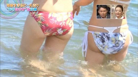 【お尻キャプ画像】水着でテレビに映る美女達の尻肉がはみ出し過ぎてえらいこっちゃやでwww 04