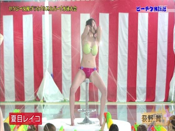 【お宝エロ画像】女優だらけのスカパー水泳大会で美女達が乳首刺激されて感じまくるww(ビーチク水鉄砲編) 42