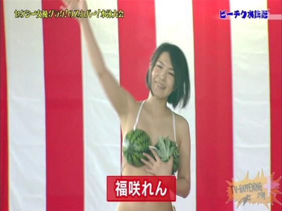 【お宝エロ画像】女優だらけのスカパー水泳大会で美女達が乳首刺激されて感じまくるww(ビーチク水鉄砲編) 55