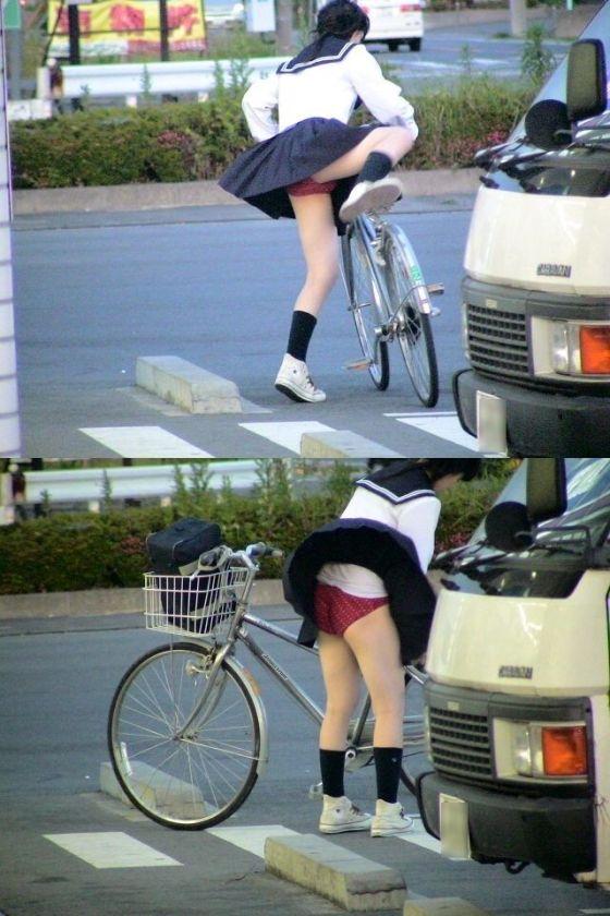 【ハプニングパンチラ画像】突然の突風により思いっきりスカートめくれちゃった素人さんww 15