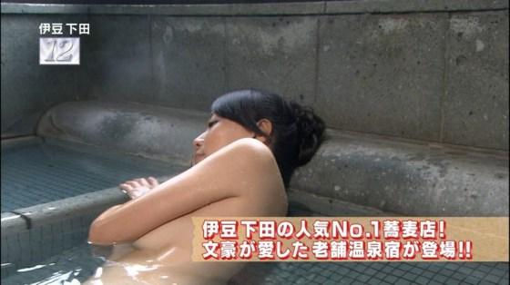 【温泉キャプ画像】バスタオル一枚でテレビに出ちゃうタレント達の身体のシルエットがエロすぎww 02