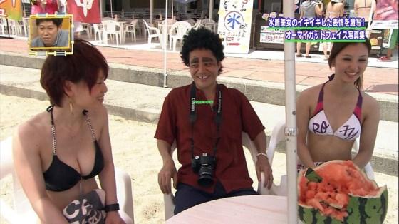 【水着キャプ画像】テレビで水着美女が映ってたら間違いなくポロリ期待するよなw 02