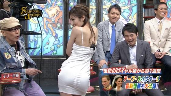 【お尻キャプ画像】ピタパン履いたタレント達がテレビでエロいお尻強調し過ぎww 24