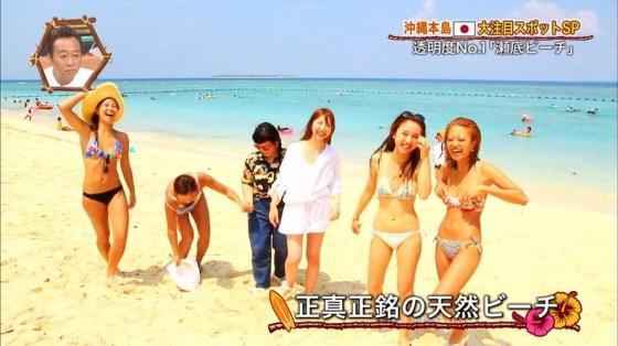 【水着キャプ画像】テレビに映ってた巨乳美女の水着や下着姿って半分以上はオッパイ出てるよなww 23