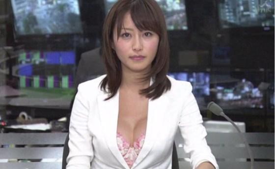 【放送事故画像】テレビで映るオッパイをムギュってしたくなる画像www 03