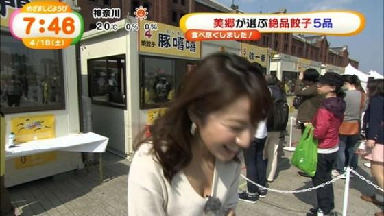【放送事故画像】テレビ越しに巨乳で誘惑なんかしないでくださいwww 12