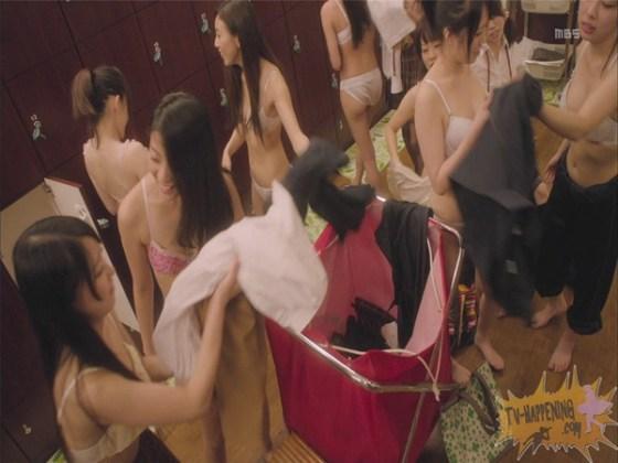 【お宝エロ画像】監獄学園第3話!脱衣シーンで女の下着姿映りまくりww 07