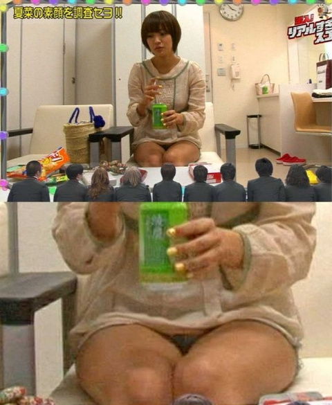 【放送事故画像】テレビでパンツ見えてようが別に平気な女達www 21