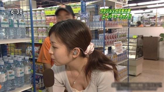 【放送事故画像】テレビ見ててもそのオッパイにしか目が行かないんですけど!ww 18
