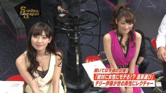 【放送事故画像】テレビ見てたらオッパイいっぱい、谷間がエロすぎる女性タレント達ww