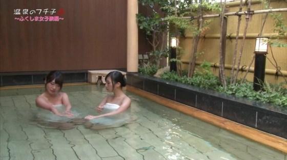 【放送事故画像】巨乳美女達がテレビの前で風呂に入る姿がエロすぎてたまらんww 11