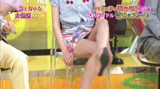 【放送事故画像】アイドルや女子アナの太ももが付け根の方まで見えてたまらんごwww 12