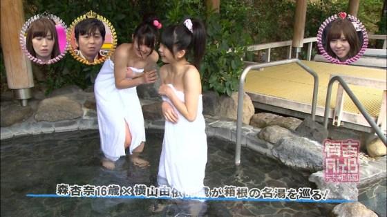 【放送事故画像】ポロリ確率高まる温泉レポート!視聴者の視線が胸元に集まるwww 17