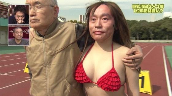 【放送事故画像】最近の水着とか下着ってオッパイ隠す着ないよなwそんな格好でテレビに出たらww 16