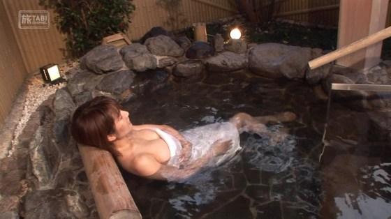 【入浴キャプ画像】温泉レポとかっていつもオッパイギリギリのところまで露出してないか? 24