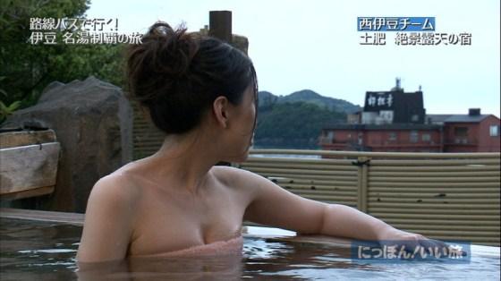 【入浴キャプ画像】芸能人の入浴シーンでバスタオルから見える谷間みて興奮しないやついるの?ww 23
