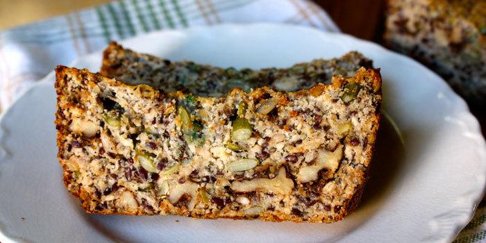 Paleo Pumpkin and Sunflower Seed Bread