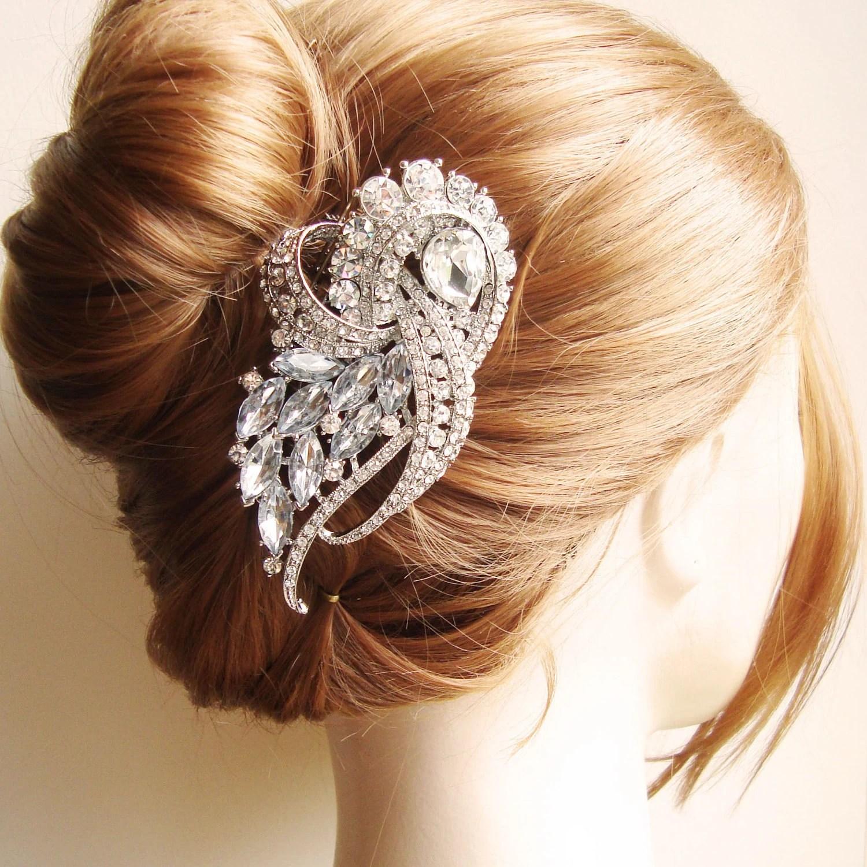 vintage bridal hair comb crystal wedding wedding hair combs Hair Comb Bridal zoom