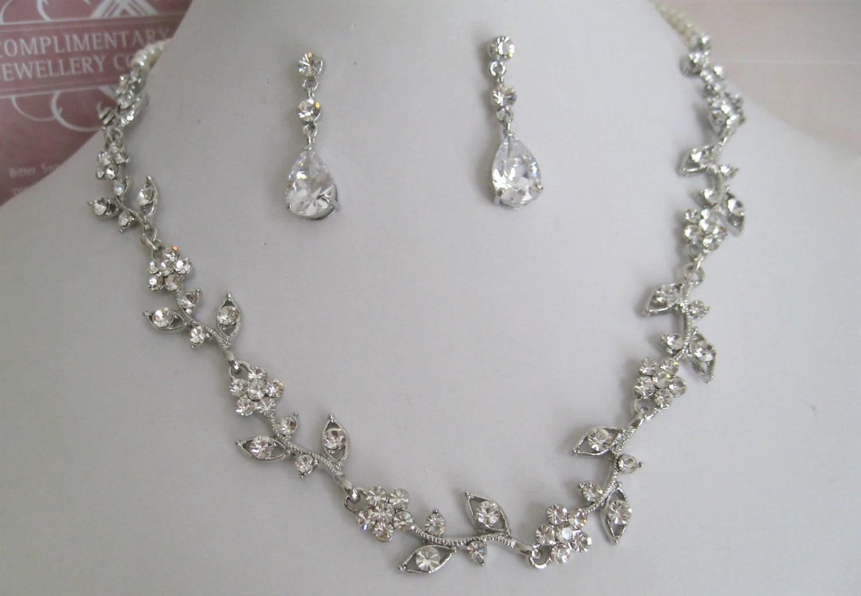 bridal jewelry bride necklace bridesmaid wedding jewelry sets zoom