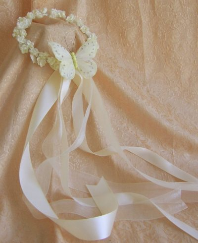 Butterfly Wedding Accessories : Flower Girl Wreath by ...