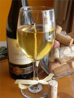 Chardonnay Wine Gel Candle via Etsy