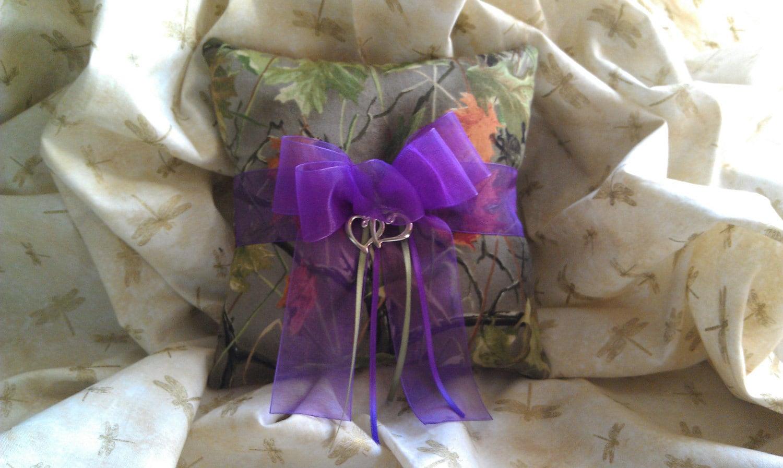 camo wedding rings pink camo wedding rings Realtree CAMO wedding ring bearer pillow with purple