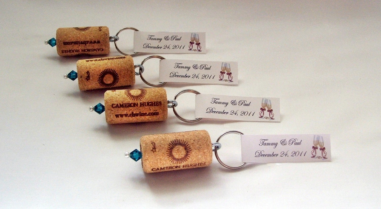 wine cork keychain favors great wedding wedding shower decorations Bridal Shower Favors zoom